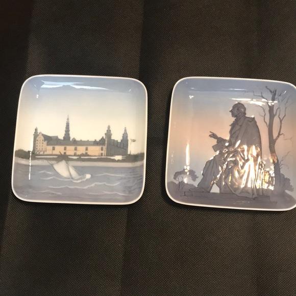 Collectible small square plates Copenhagen Denmark